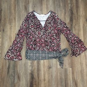 Fever Paisley Side Tie Top